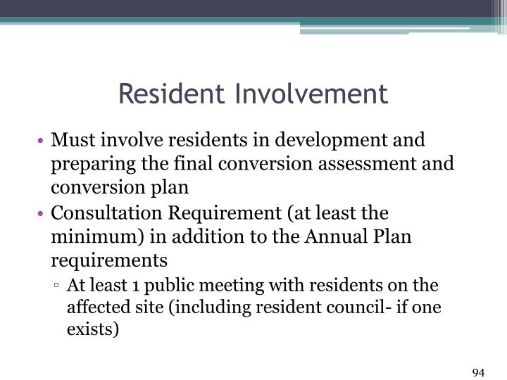 Resident Involvement