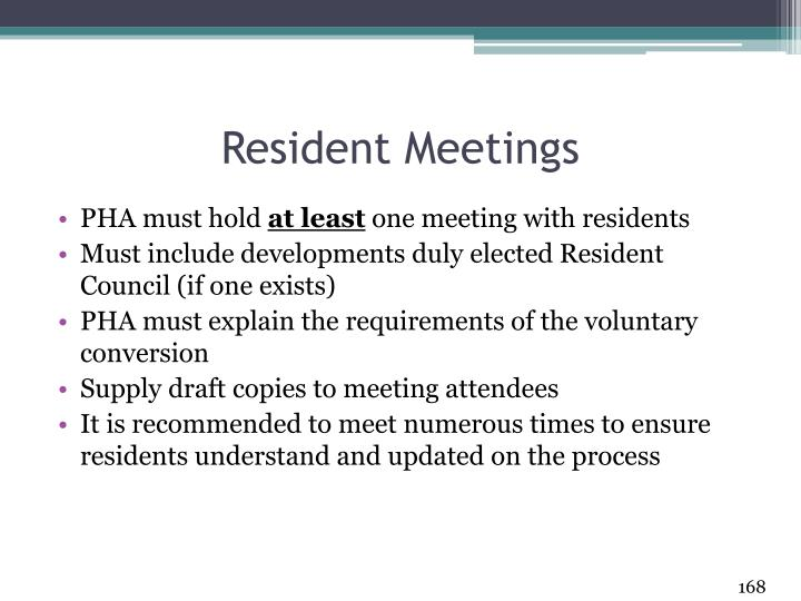Resident Meetings