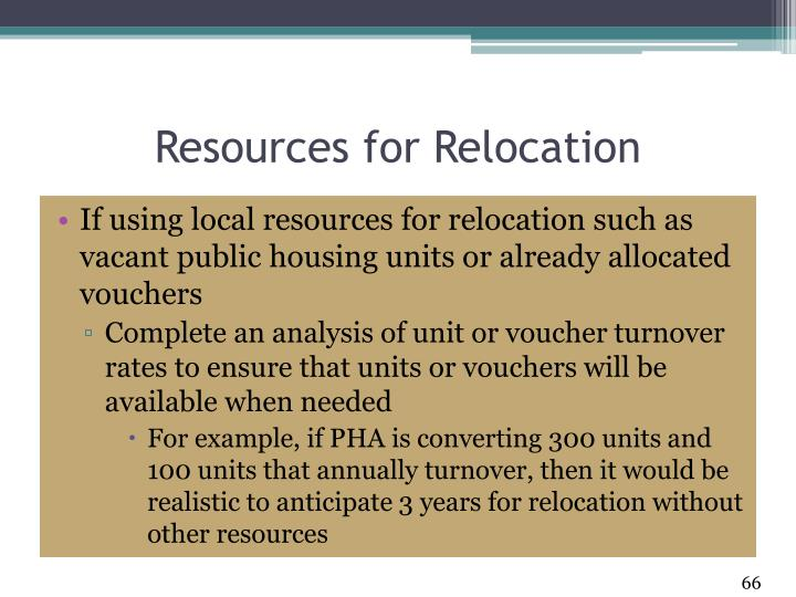 Resources for Relocation