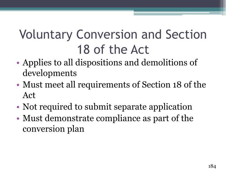 Voluntary Conversion and Section 18 of the Act