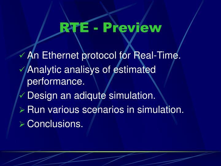 RTE - Preview