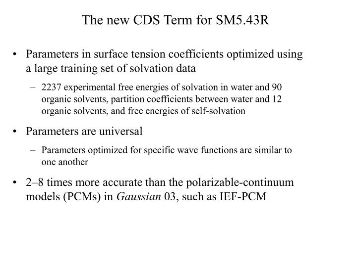 The new CDS Term for SM5.43R