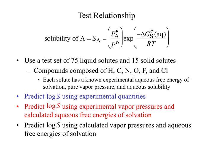 Test Relationship
