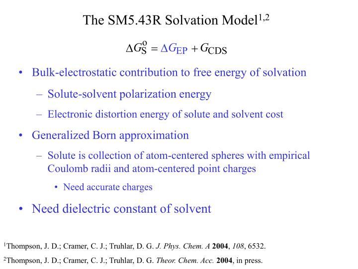 The SM5.43R Solvation Model