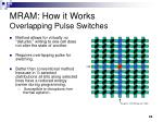mram how it works overlapping pulse switches