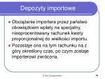 depozyty importowe