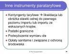 inne instrumenty parataryfowe