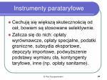 instrumenty parataryfowe