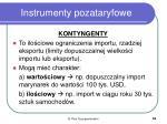 instrumenty pozataryfowe