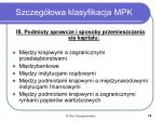 szczeg owa klasyfikacja mpk1