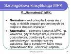 szczeg owa klasyfikacja mpk3