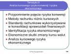 tematyka 8 analiza kursowego ryzyka konwersji i ryzyka ekonomicznego