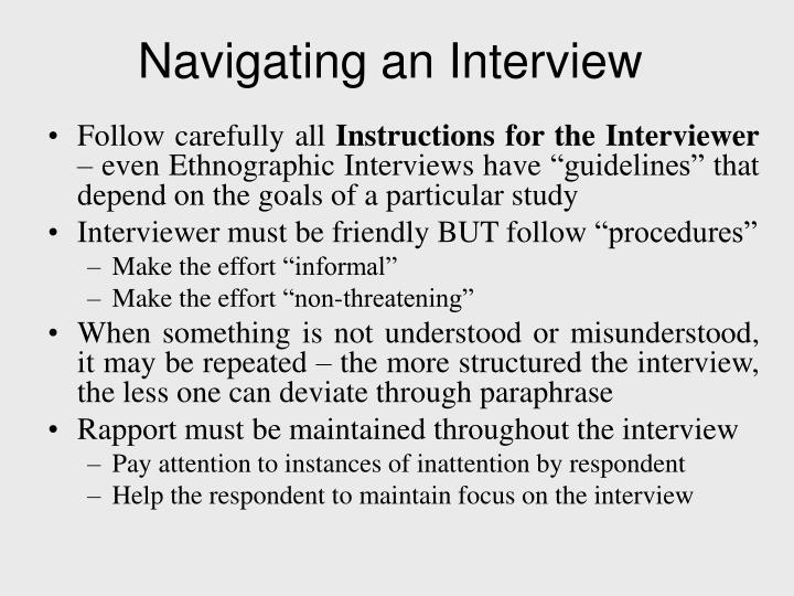 Navigating an Interview