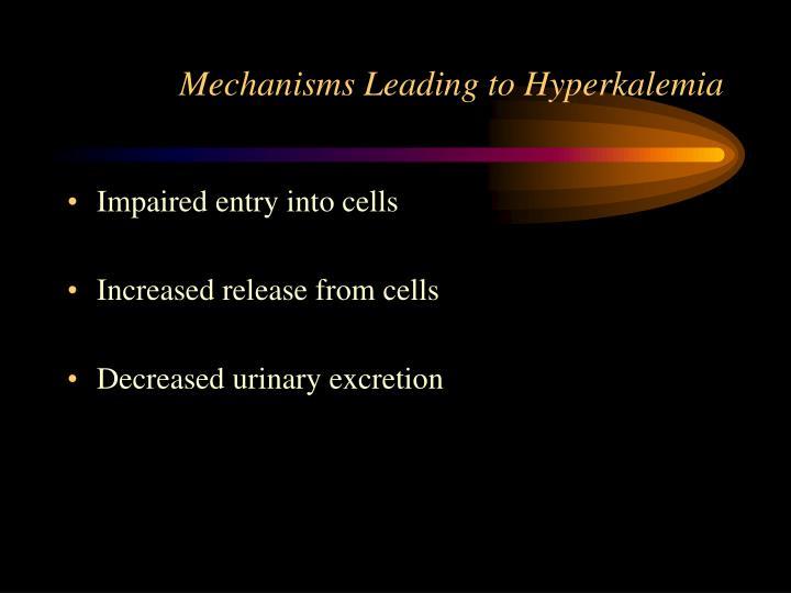 Mechanisms Leading to Hyperkalemia