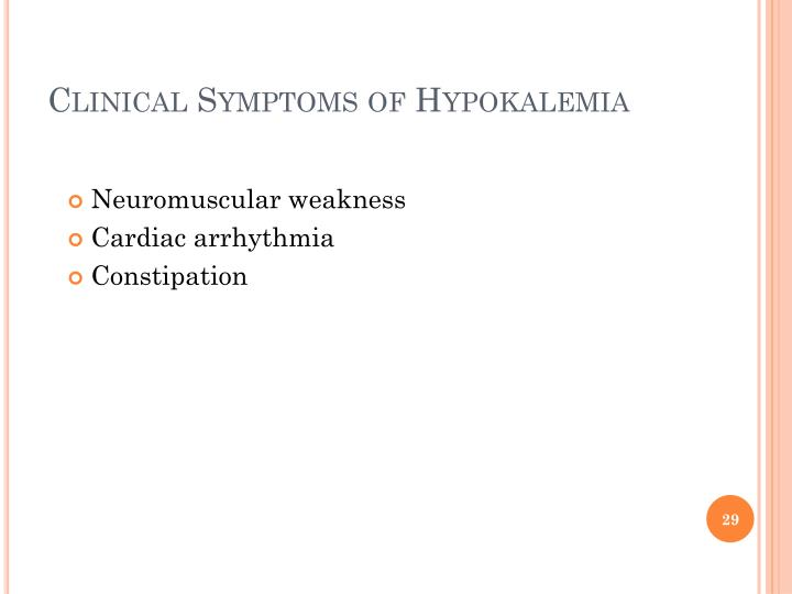 Clinical Symptoms of
