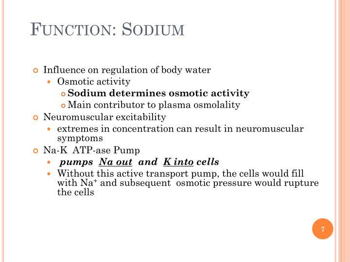Function: Sodium