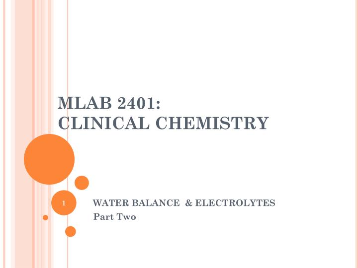 MLAB 2401:
