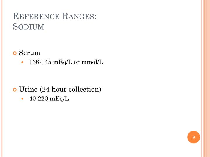 Reference Ranges: