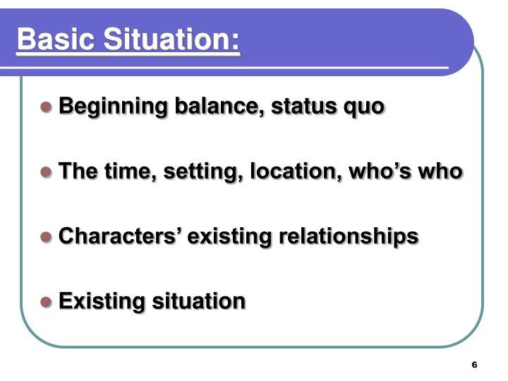 Basic Situation: