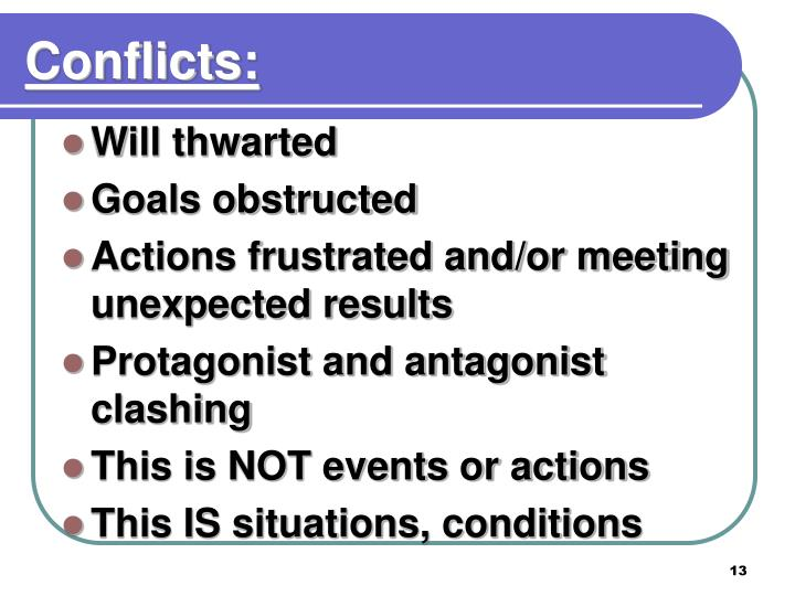 Conflicts: