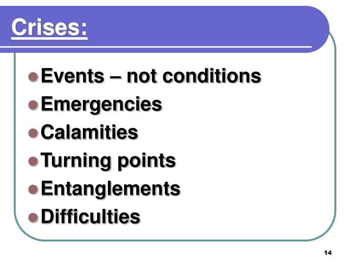 Crises: