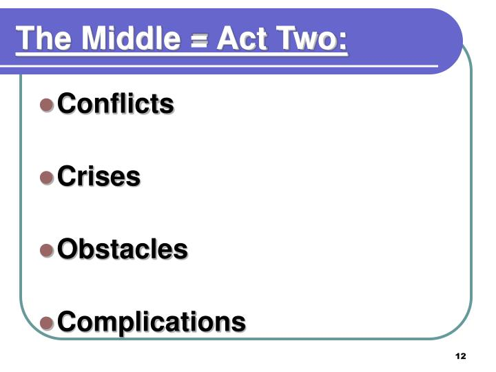 The Middle = Act Two: