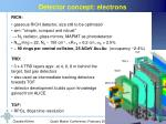 detector concept electrons