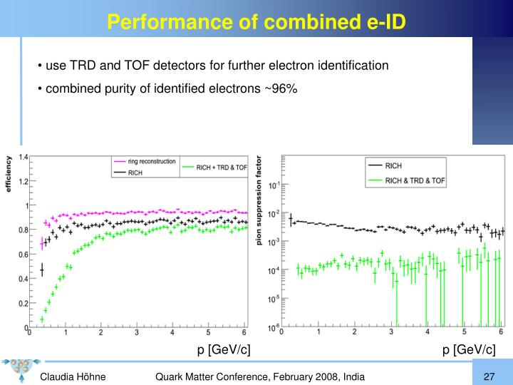 Performance of combined e-ID
