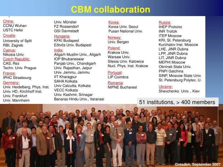 CBM collaboration