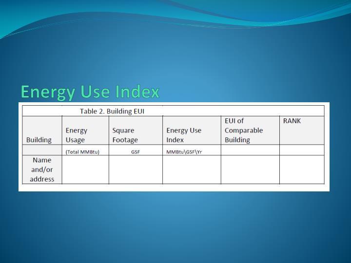 Energy Use Index