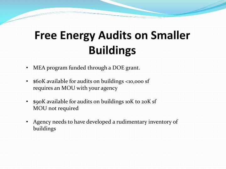 Free Energy Audits on Smaller Buildings