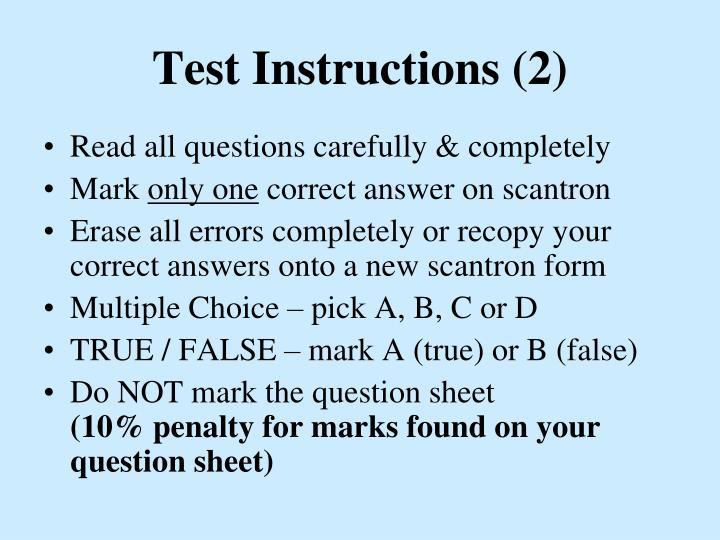 Test Instructions (2)