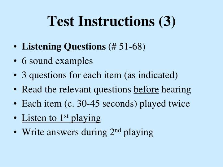 Test Instructions (3)