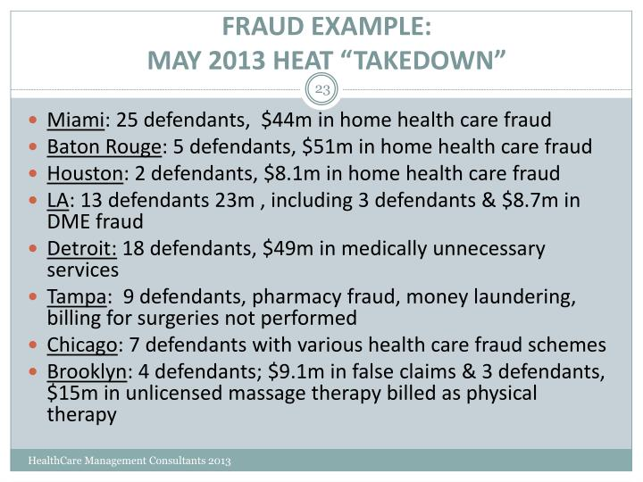 FRAUD EXAMPLE: