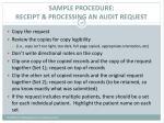 sample procedure receipt processing an audit request3