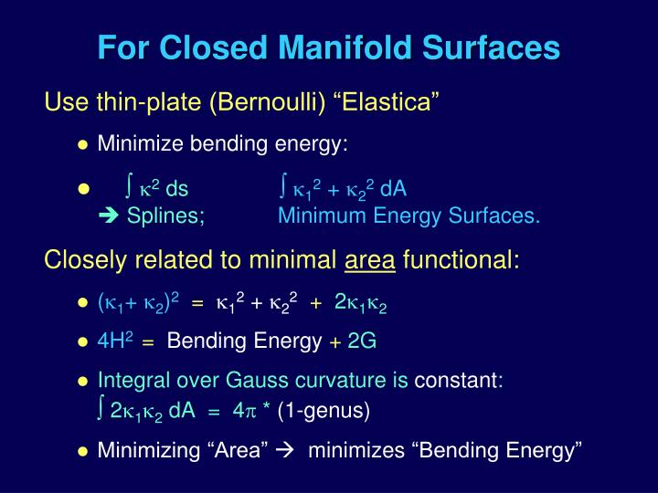 For Closed Manifold Surfaces