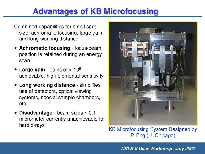 Advantages of KB Microfocusing