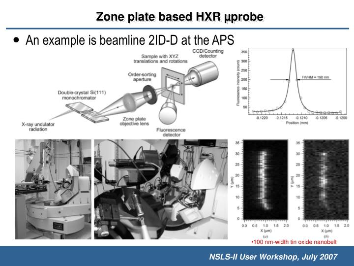An example is beamline 2ID-D at the APS