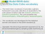 model envri data the data cube vocabulary