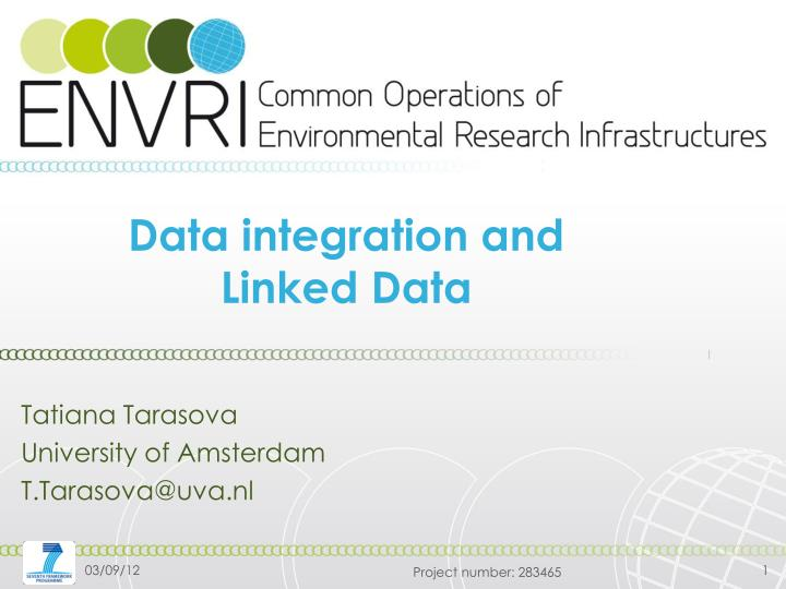 Data integration and