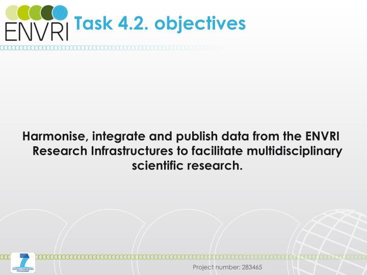 Task 4.2. objectives