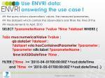 use envri data answering the use case i