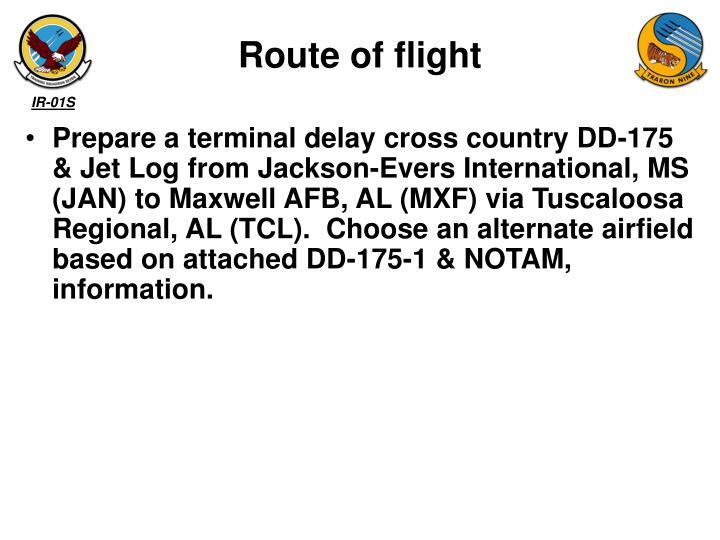 Route of flight