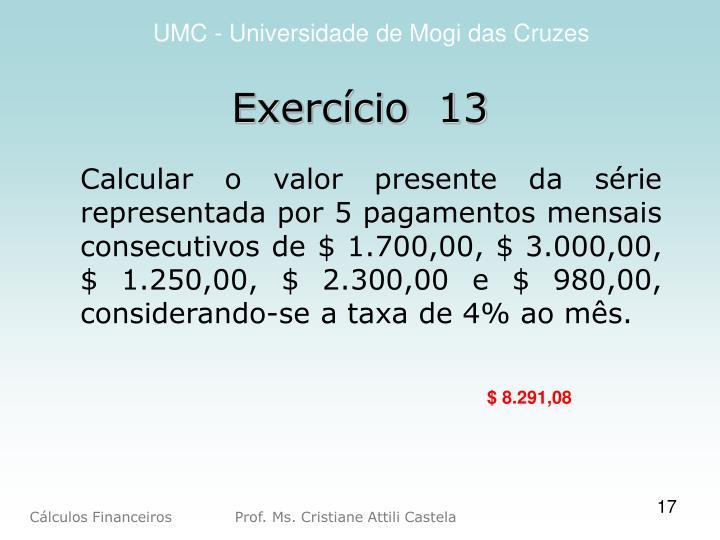 Exercício  13