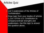 articles quiz