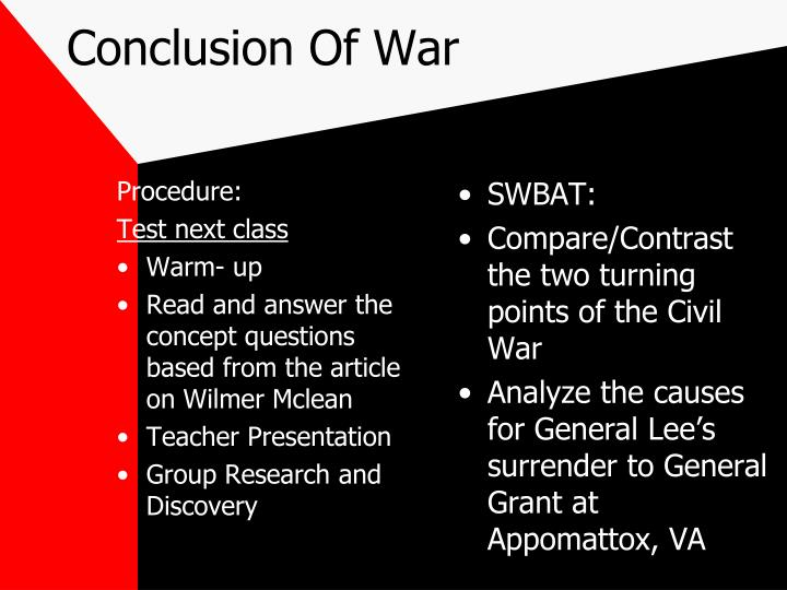Conclusion Of War