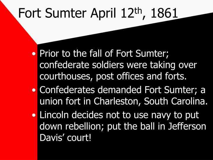 Fort Sumter April 12