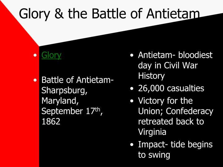 Glory & the Battle of Antietam