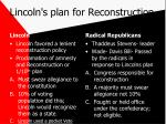 lincoln s plan for reconstruction