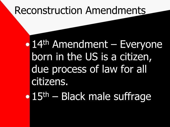 Reconstruction Amendments